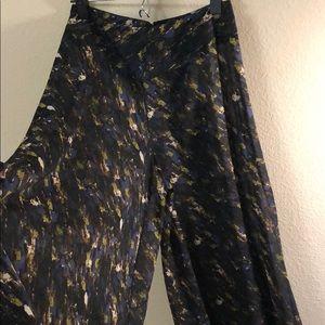 Pants - Patterned Sheer Wide Pant Leg